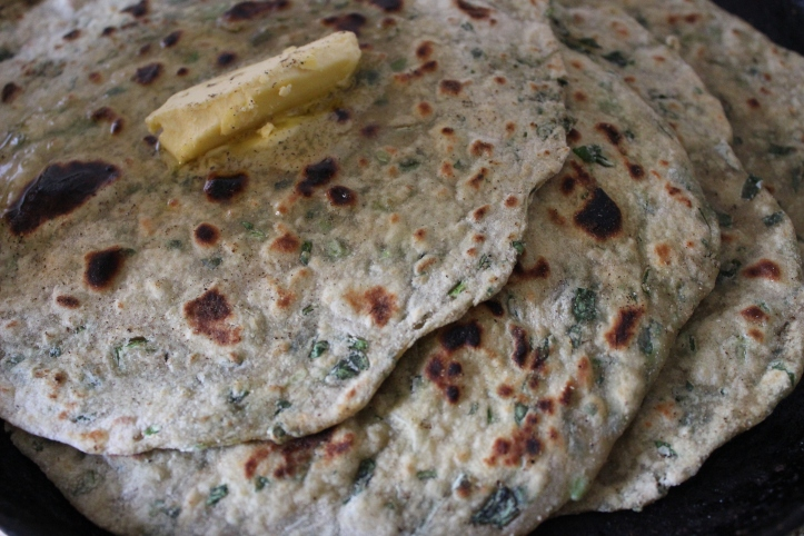 PARATHA: Methi & Paneer Paratha - Recipe in masalahealth.com