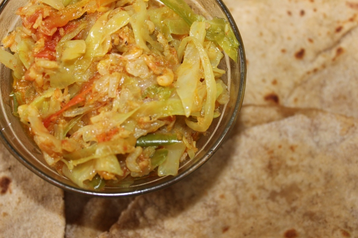 Fusion: Cabbage & Small Shrimps – Recipe in masalahealth.com