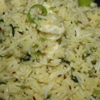 Steamed Rice (in appetizing Tadka)