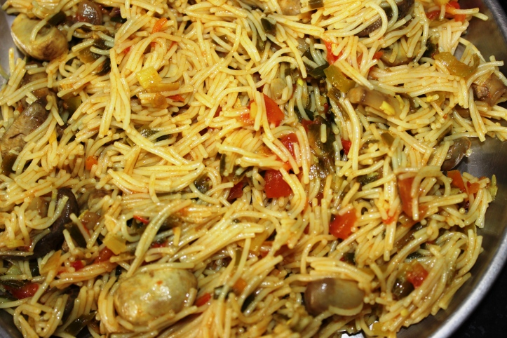VERMICELLI PASTA: VermicelliUpma (with button mushrooms) - Recipe in masalahealth.com