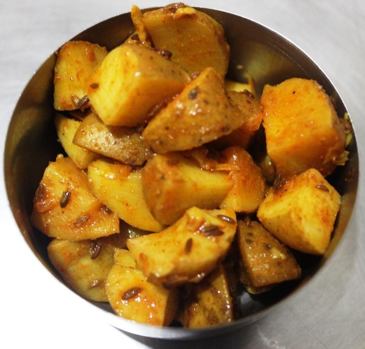 Flavourful Potatoes - Recipe in masalahealth.com