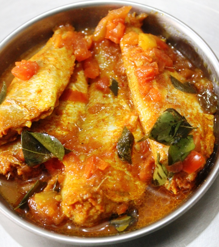 Rani Fish/ Pink Perch Fish:Pink Perch Fishin the blend of tomato & curry leaves broth - Recipe in masalahealth.com