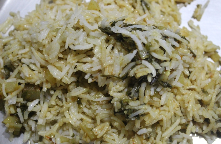 Pulao: The Recipe of Spinach Pulao in masalahealth.com