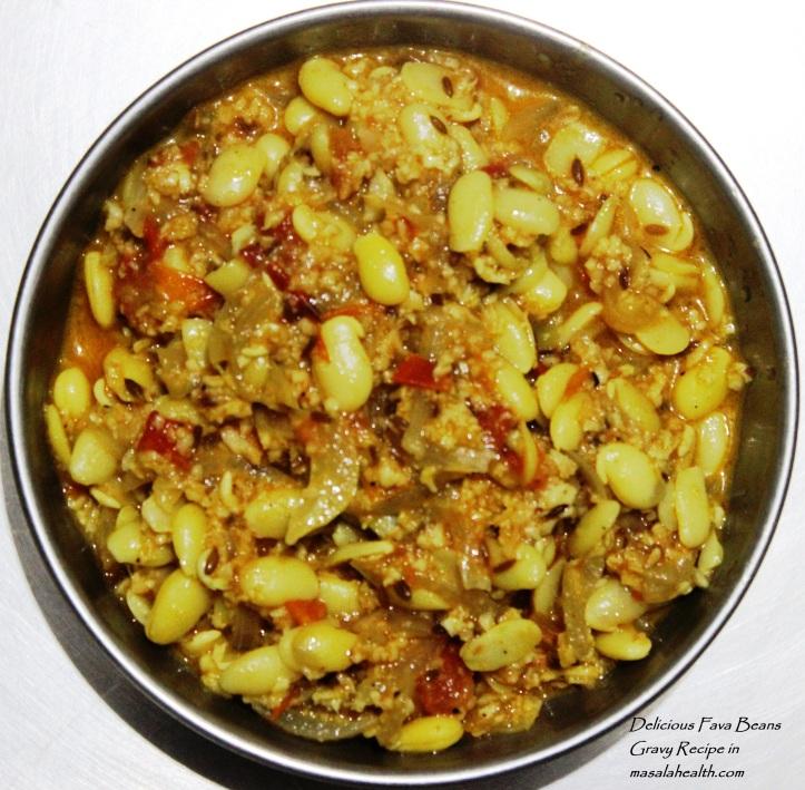 Fava Beans Gravy - Delicious Vegetarian Recipes in masalahealth.com