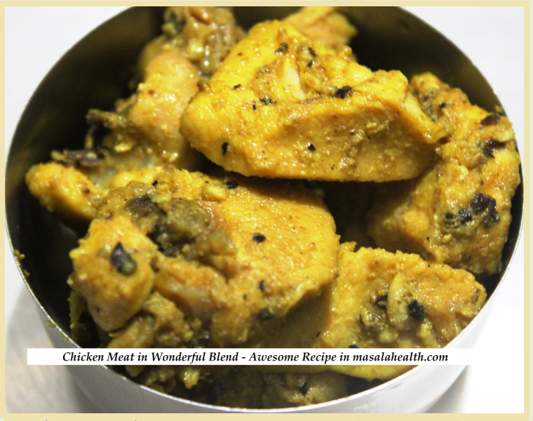 CHICKEN GRAVY: Chicken Meat in Wonderful Blend - Awesome Recipe in masalahealth.com