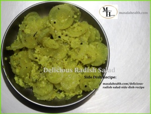 Delicious Radish Salad - Side Dish Recipe in masalahealth.com