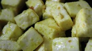 pan-fried paneer cubes - recipe in masalahealth.com