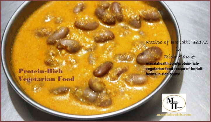 Cooked Borlotti Beans in Thick Gravy: Protein-Rich Vegetarian Food Recipe of Borlotti Beans in Rich-Sauce in masalahealth.com