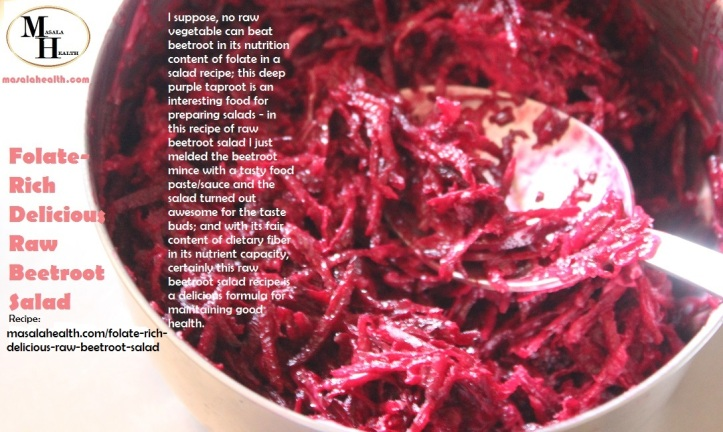 Raw Beetroot Salad: Folate-Rich Delicious Raw Beetroot Salad Recipe in masalahealth.com
