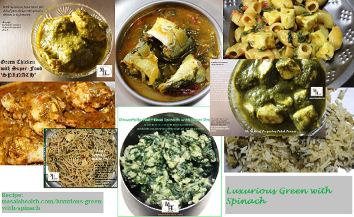 Delicious and Nutritious Food Recipes of Spinach in masalahealth.com
