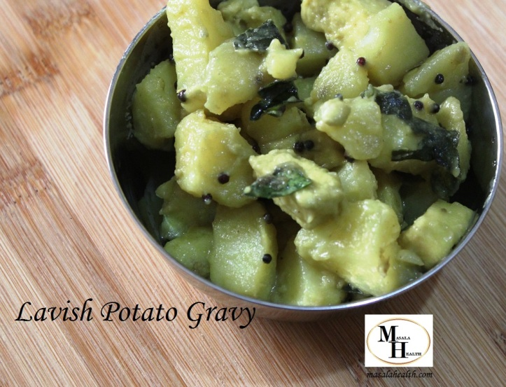 Lavish Potato Gravy - Recipe in masalahealth.com