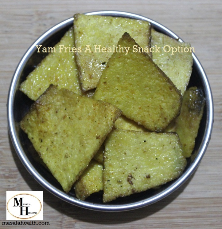 Yam Fries A Healthy Snack Option - Recipe in masalahealth.com
