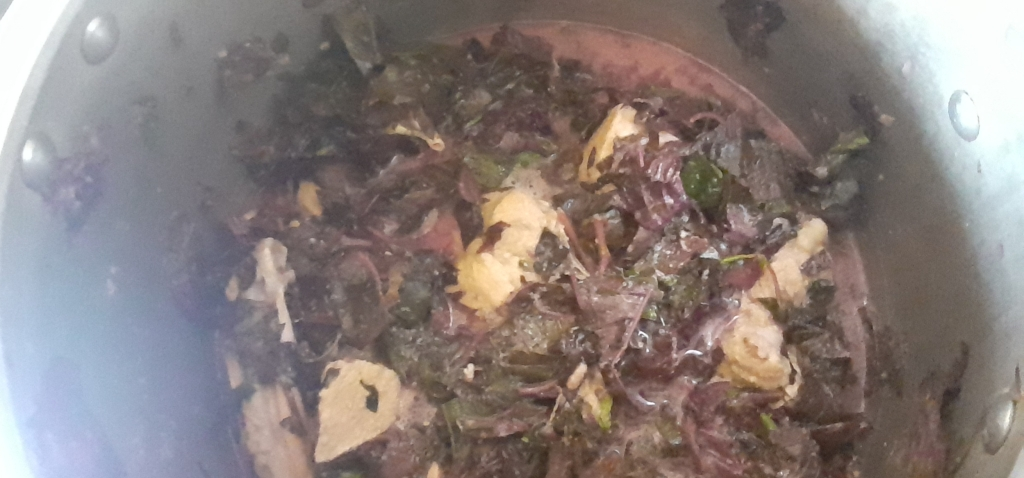 Amaranth Leaves Blended with Chicken Meat