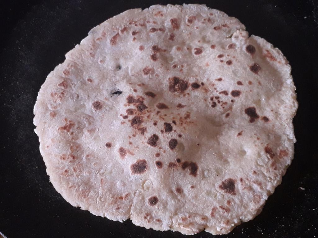 Roasted Potato Paratha - Recipe of Aloo Paratha or Potato Flatbread in MASALAHEALTH.COM