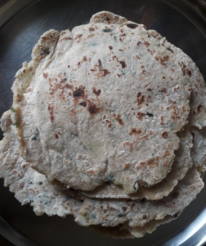 Aloo Paratha/Potato Flatbread flavourful with Coriander Herb - Recipe in MASALAHEALTH.COM