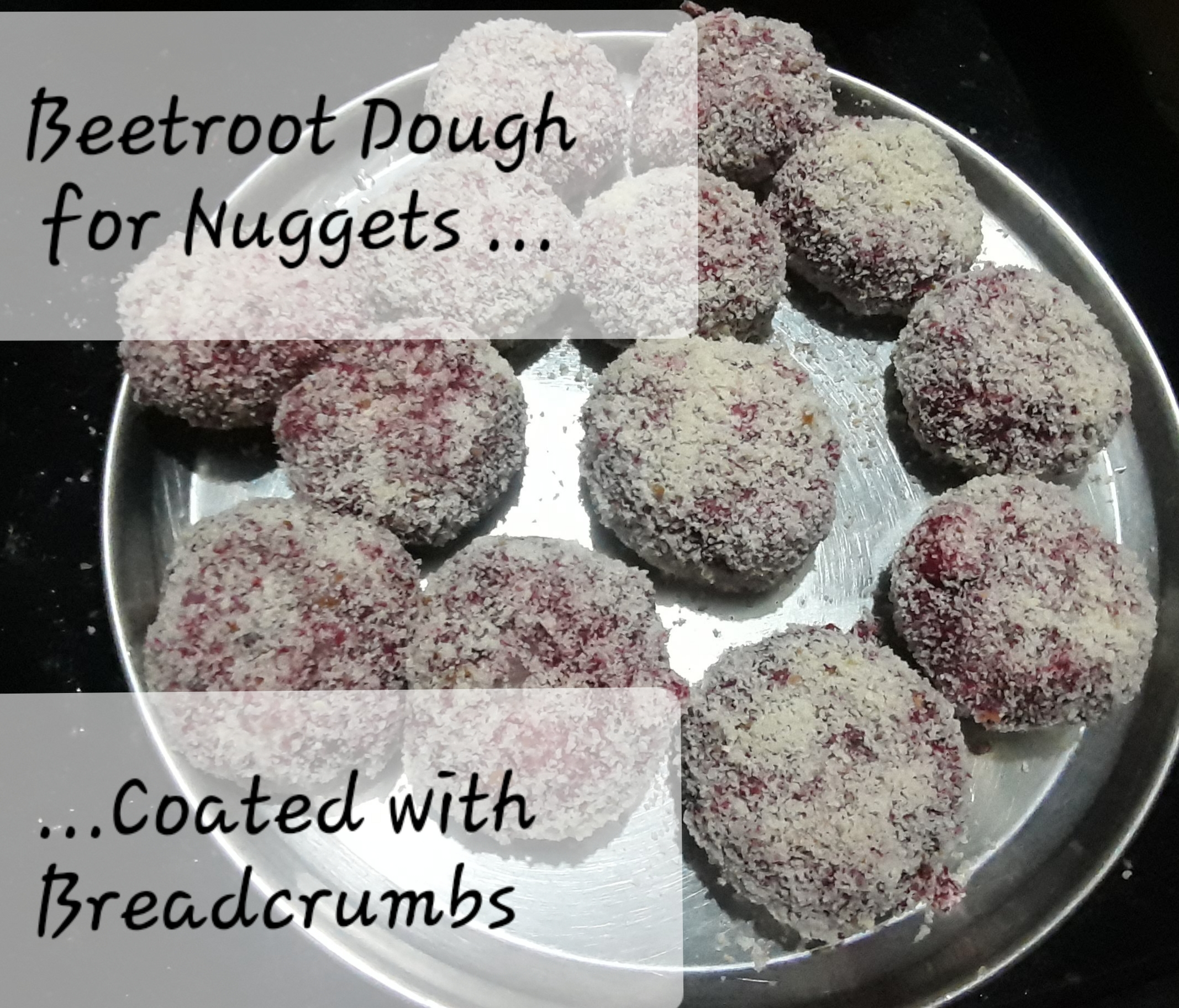 Beetroot Nuggets Coated with Breadcrumbs