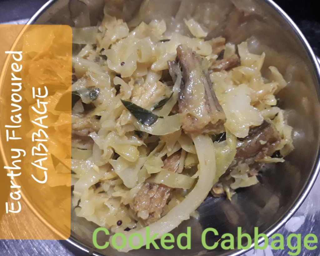 Earthy Flavoured Cabbage - Recipe in MASALAHEALTH.COM