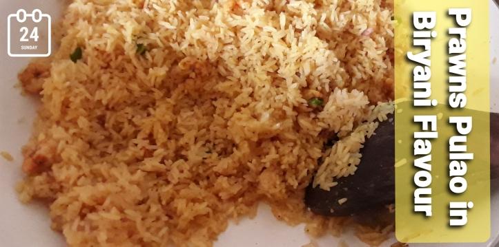 Prawns Pulao in Biryani Flavour