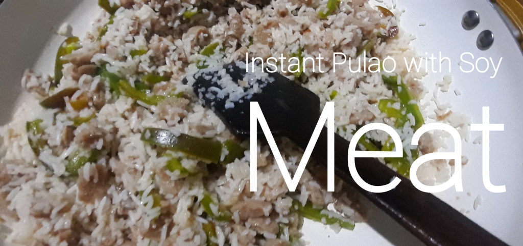 Instant Pulao with Soy Meat