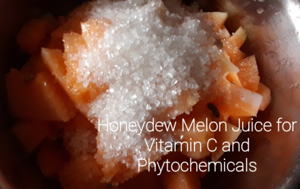 Honeydew Melon Juice for Vitamin C and Phytochemicals