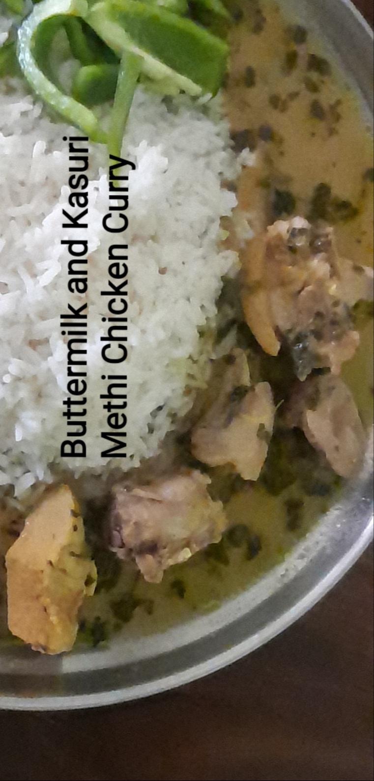 Buttermilk and Kasuri Methi Chicken Curry